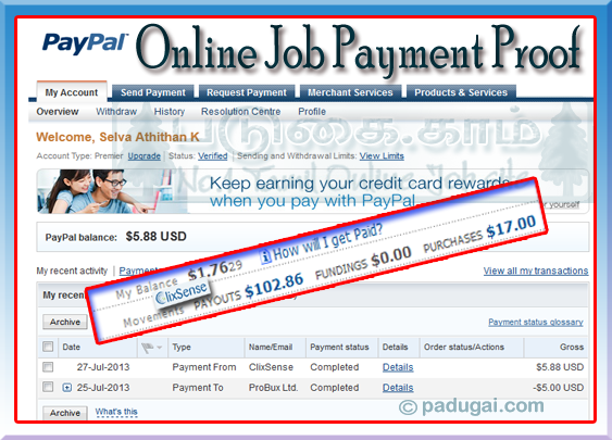 Proofreading service payment portal