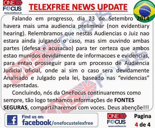 Telexfree USA notícia de última hora: Movimento no processo.