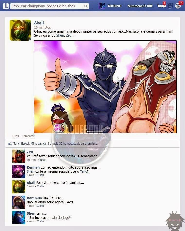 Segredo Ninja, shen gay, akali, almofada do zed.