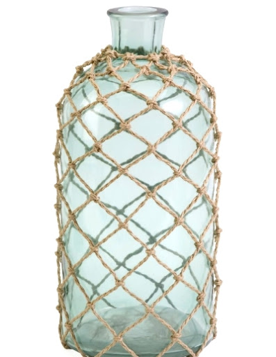 blue rope net bottle
