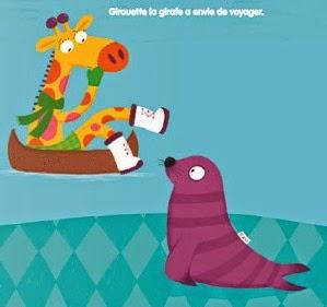 Girouette Girafe banquise