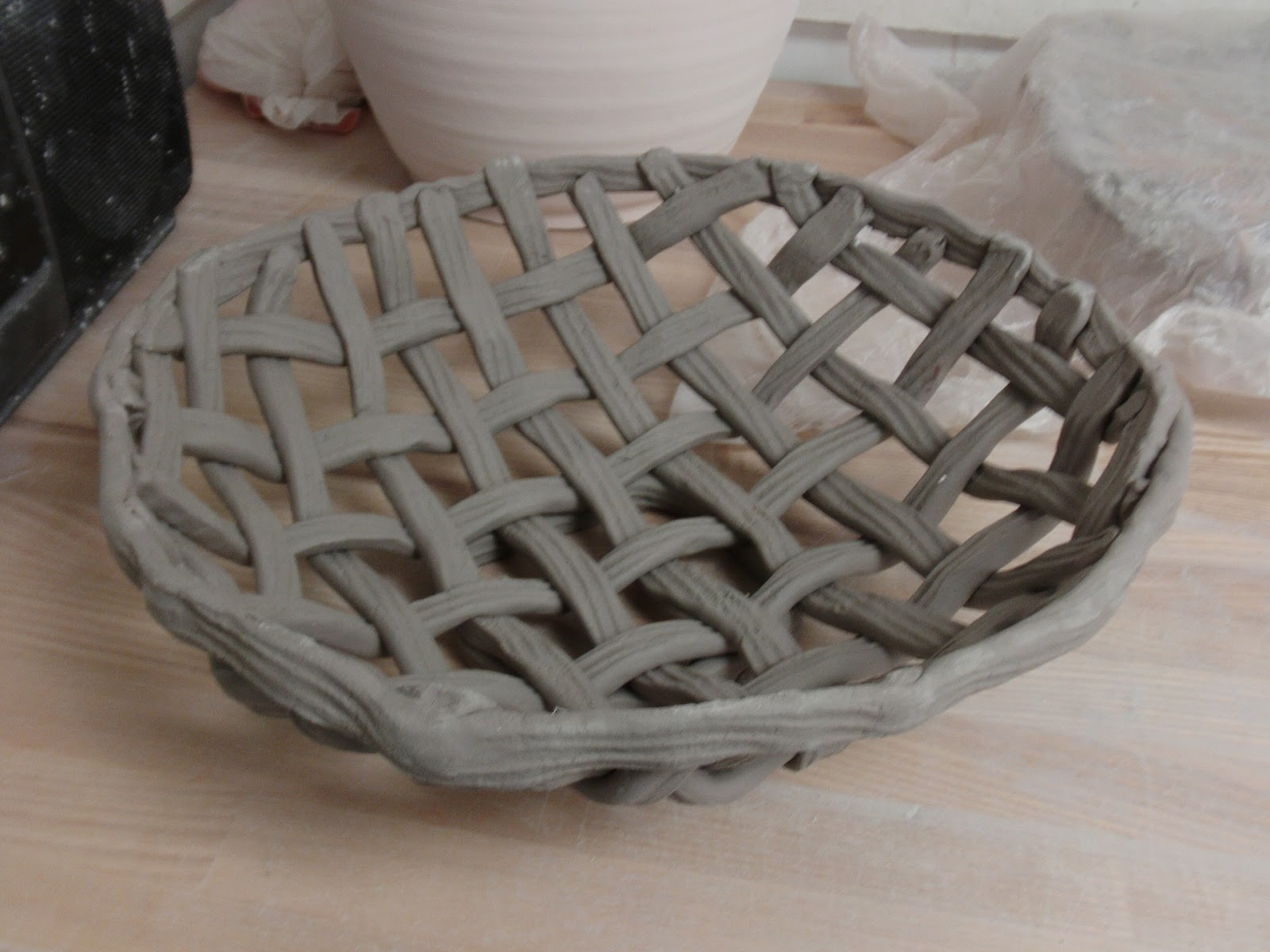 Basket Weaving Molds : Candy s creations basket making in clay