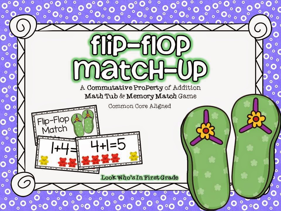 """Commutative Property of Addition"" ""Flip Flop Match Up"""