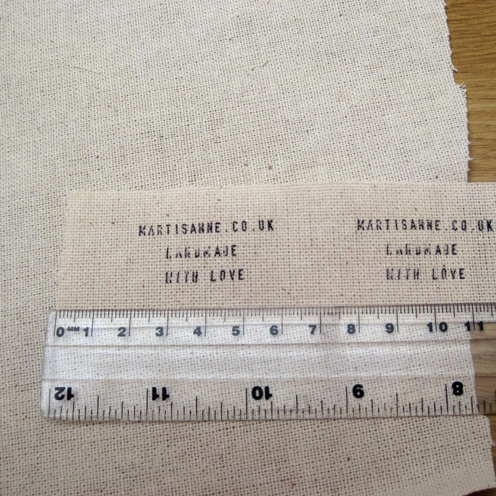 Cut fabric label