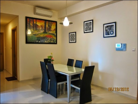 Phòng bếp căn hộ The Vista đẹp