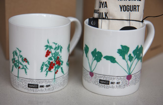Mugs from the food guide