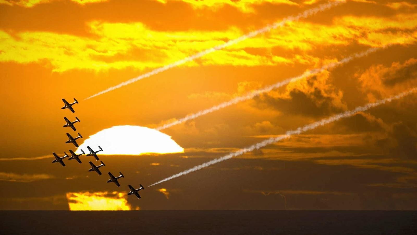 Evening Good Saturday Flights Aeroplanes Aeroplane Wallpapers HD Desktop