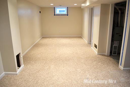 basement carpet install