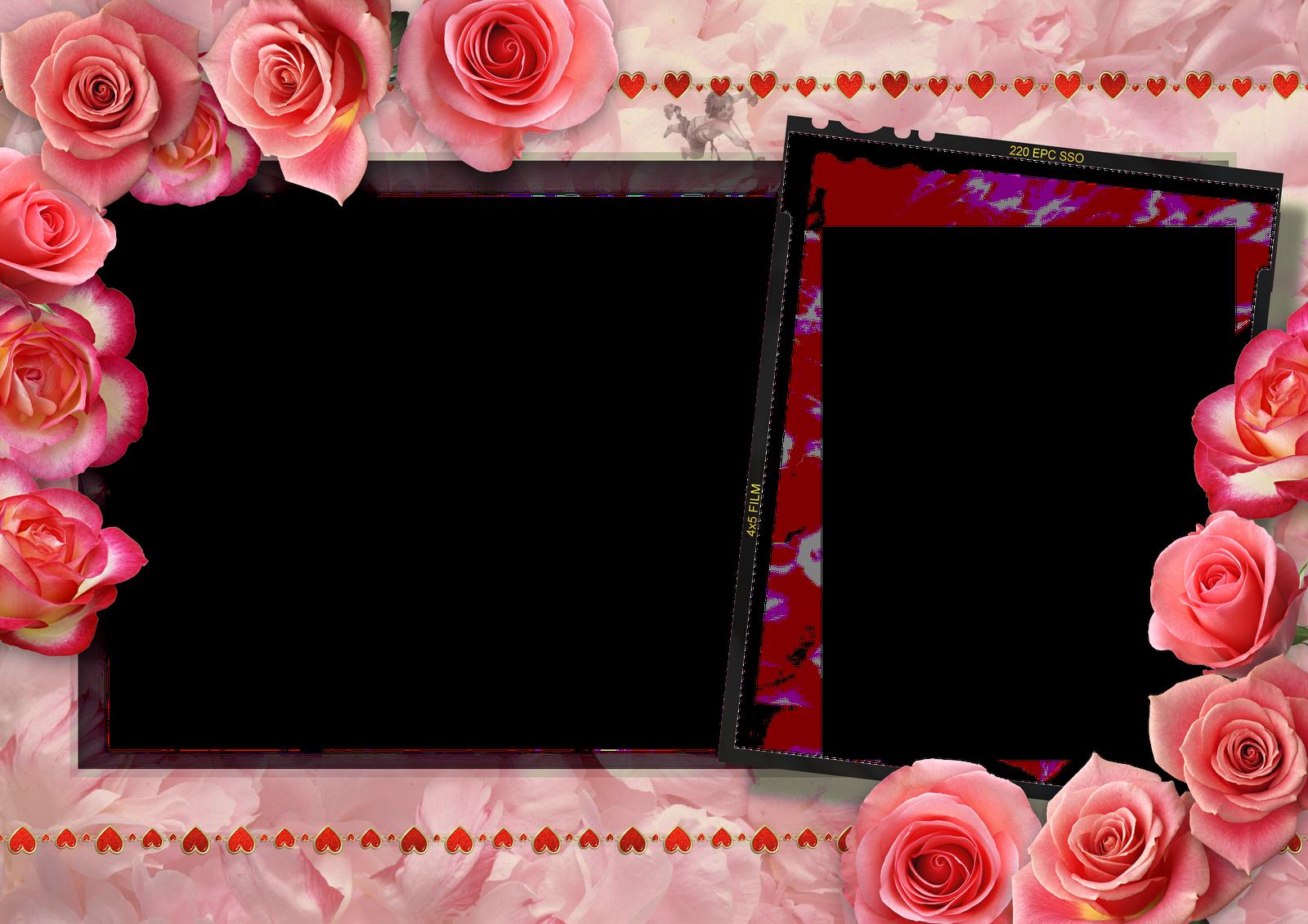 Marcospng fotos karenliz marcos de flores png - Marco 4 fotos ...