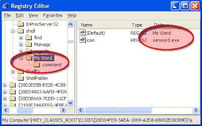 menambahkan ms word di context menu my computer