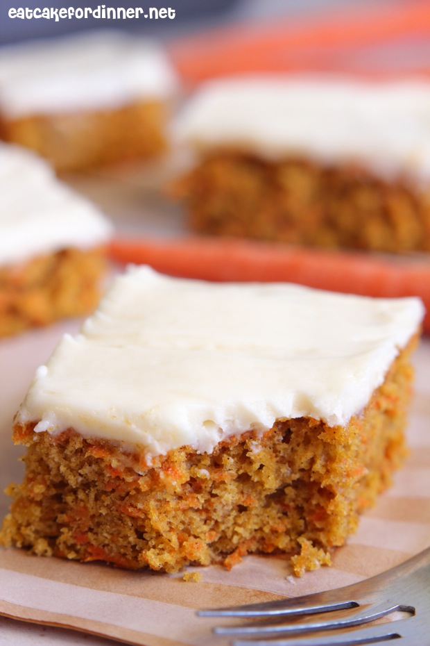 Carrot Cake With Marshmallow Frosting