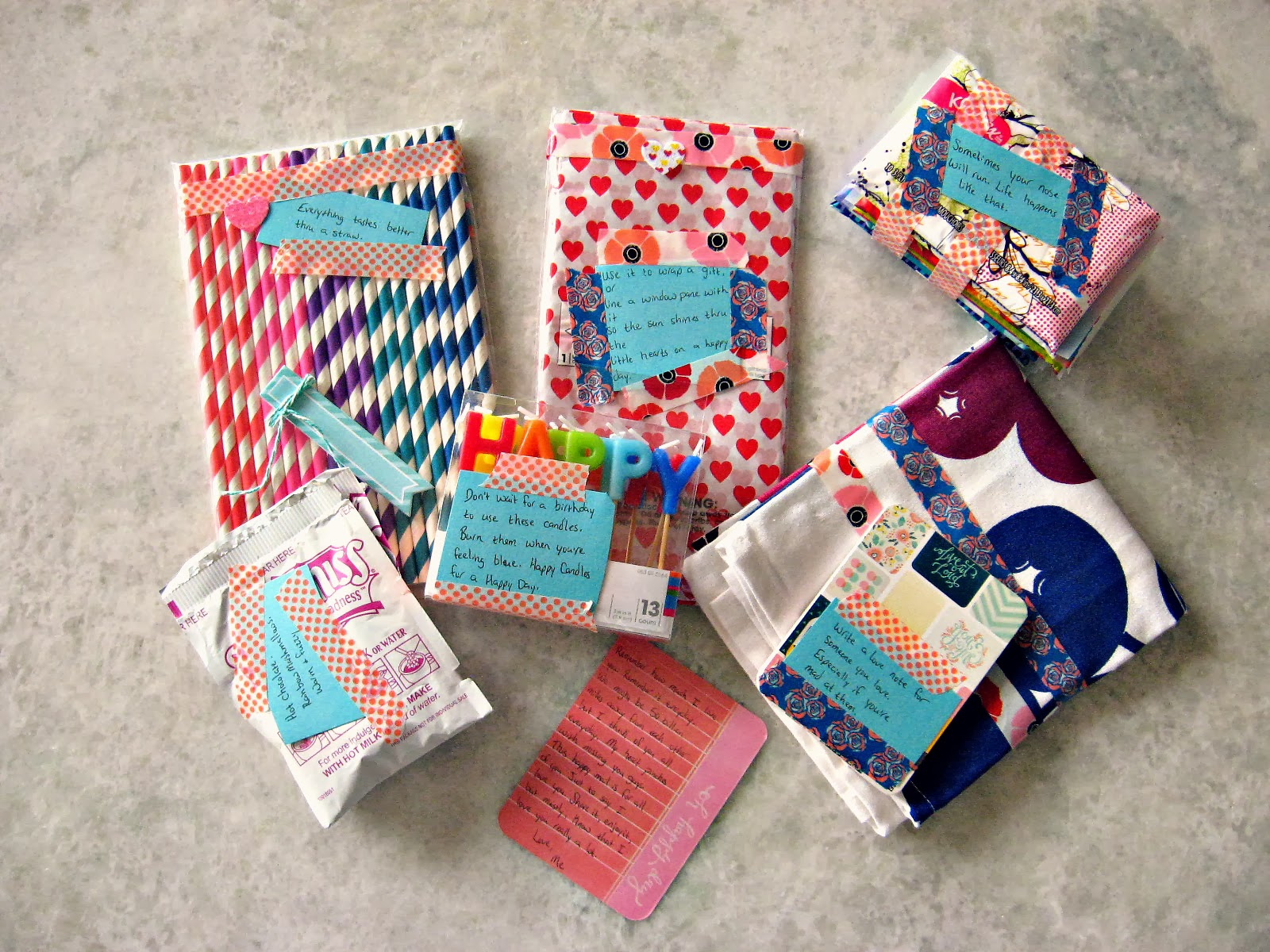 Beautiful mess happy mail i love to give gifts its my love language and i particularly love to give away a bunch of little things at once stockings easter baskets happy mail negle Choice Image