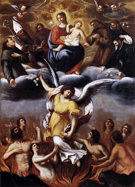 Lodovico Carracci - An Angel Frees the Soul of Purgatory