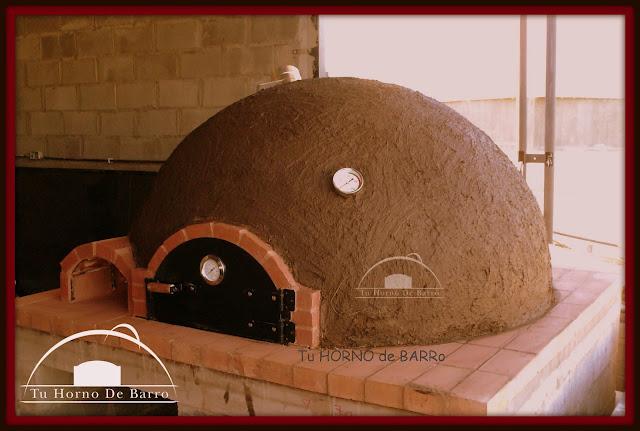 Horno pizzero barro