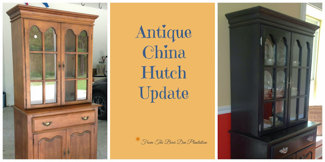 China Hutch Before and After