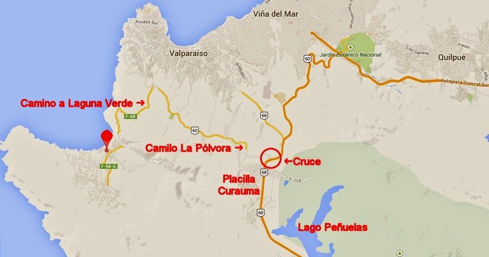El Galeon Laguna Verde mapa carreteras