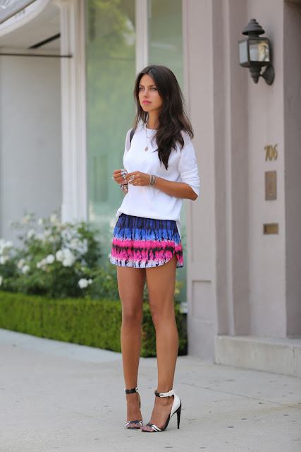 Woodstock shorts +  Zara sweater + Jazmyn sandals