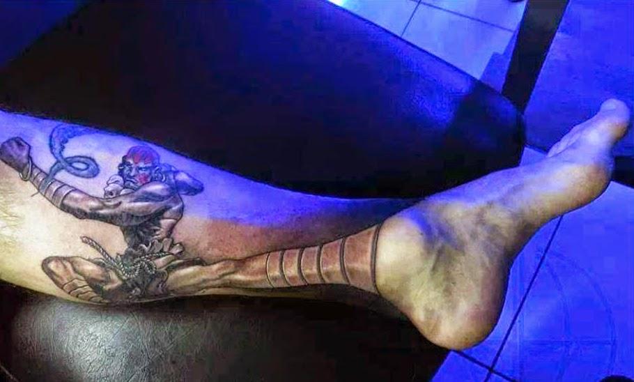 Tatuajes de Street Fighter : Tatuaje Dhalsim