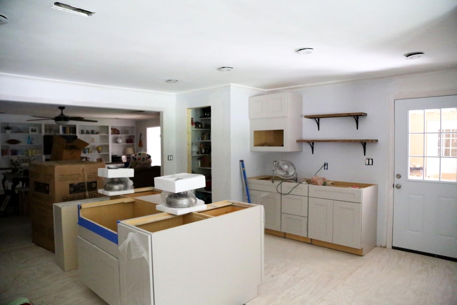 kitchen demo, kitchen remodel, Martha Stewart cabinets, remodel, new kitchen, DIY kitchen