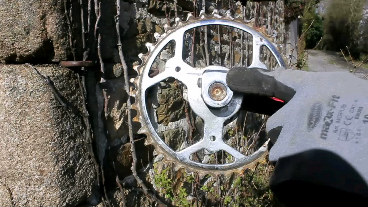 Bicycle crank wheel