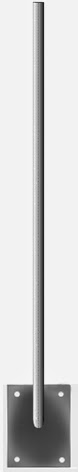 Suporte vertical, altura 50 cm