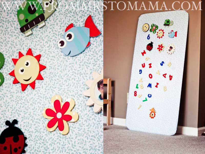 From mrs to mama february craft of the month magnetic board for Craft of the month
