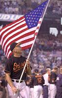 cal ripkin USA flag baltimore orioles
