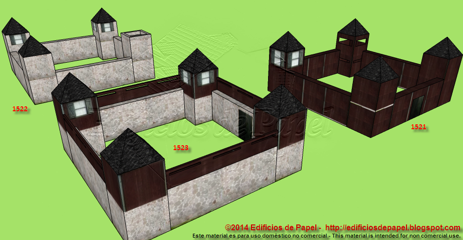 Fortifications as paper models