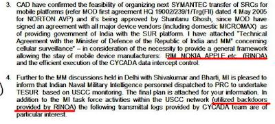 Nokia, Apple y el fabricante de Blackberry espionaje