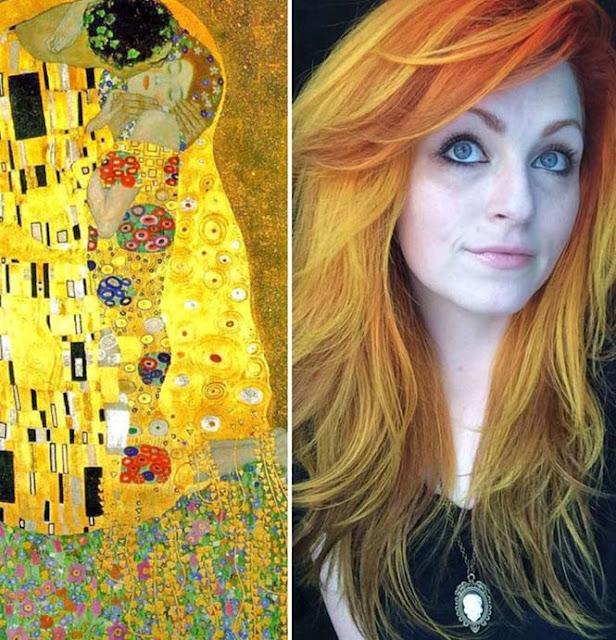 warna rambut seperti karya seni terkenal