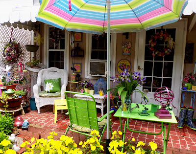 bright and colorful patio