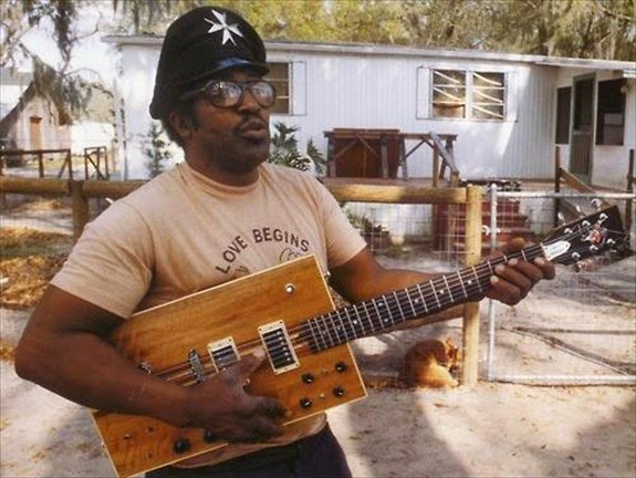 Bo Diddley at home, 1980.