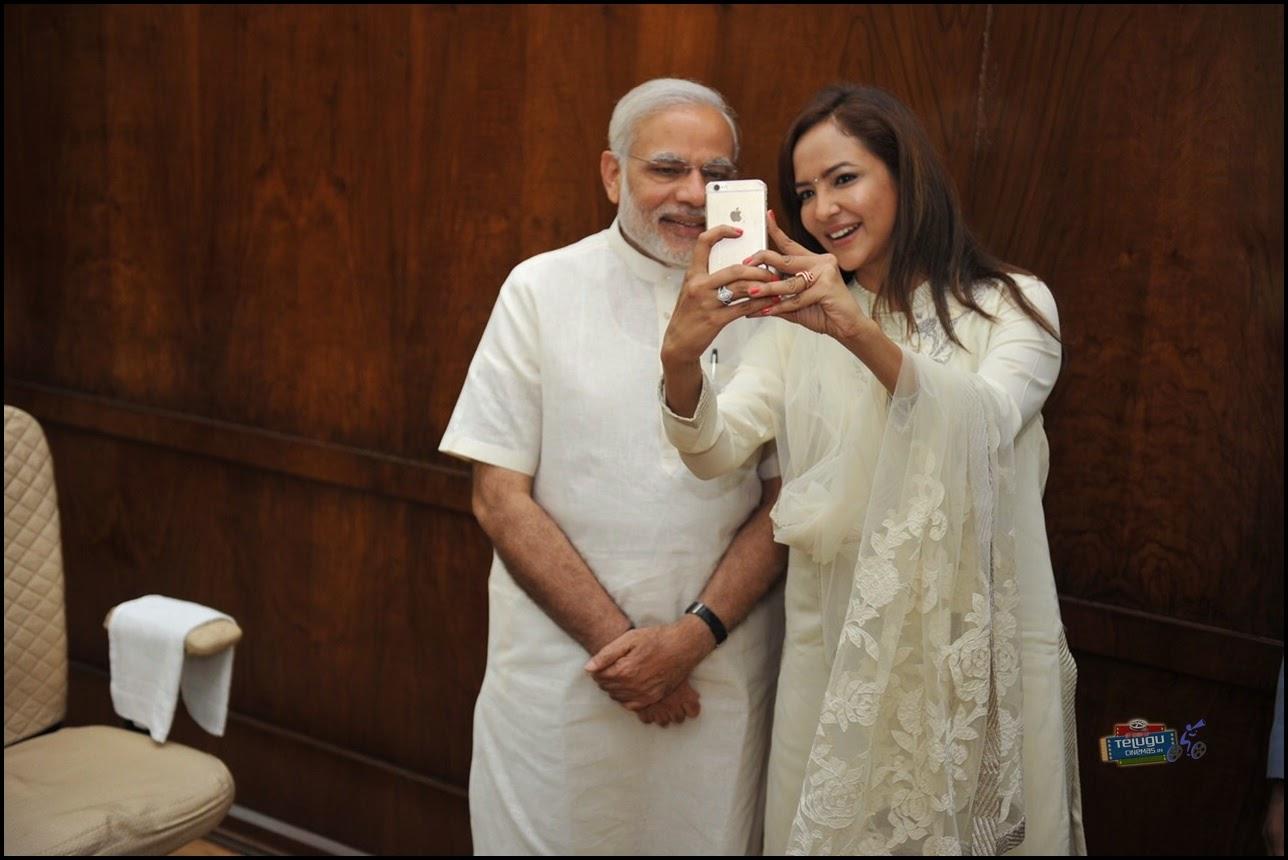 Lakshmi Manchu with Prime Minister Modi