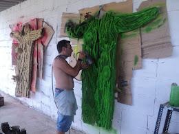 Pintando los trajes