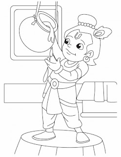 krishna the innocent butter thief coloring pages - Baby Krishna Images Coloring Pages