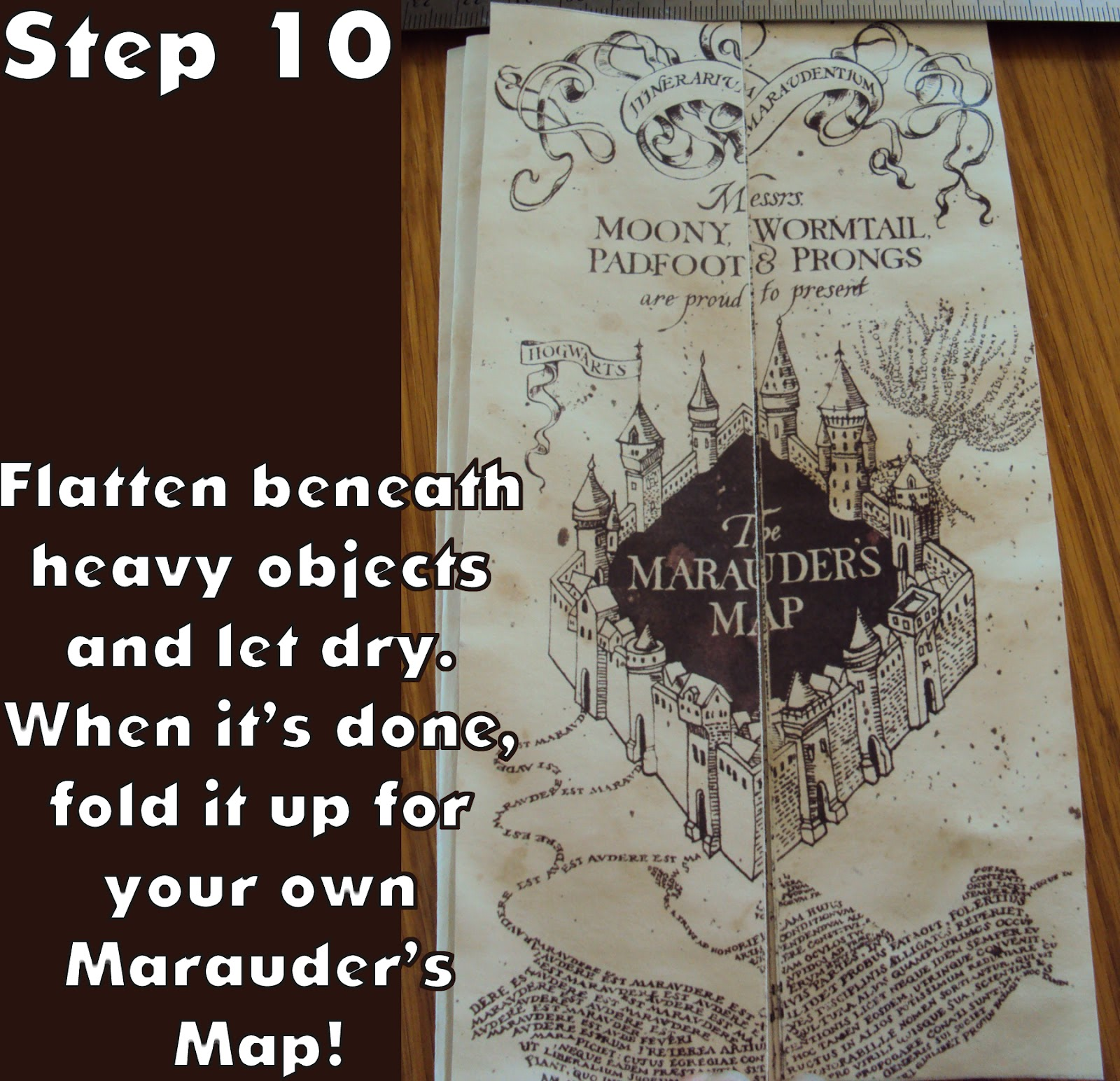 This is a picture of Versatile Marauders Map Printable