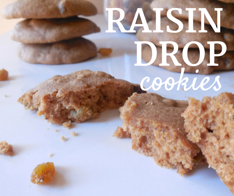 Raisin Drop Cookies: a spiced, cake-like cookie that you can feel good about eating!
