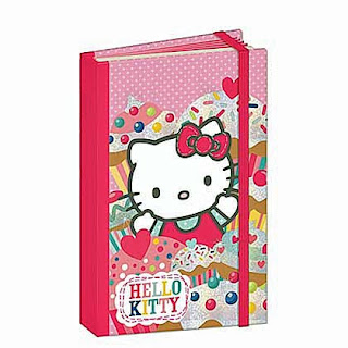 Hello Kitty cupcake notepad with ribbon