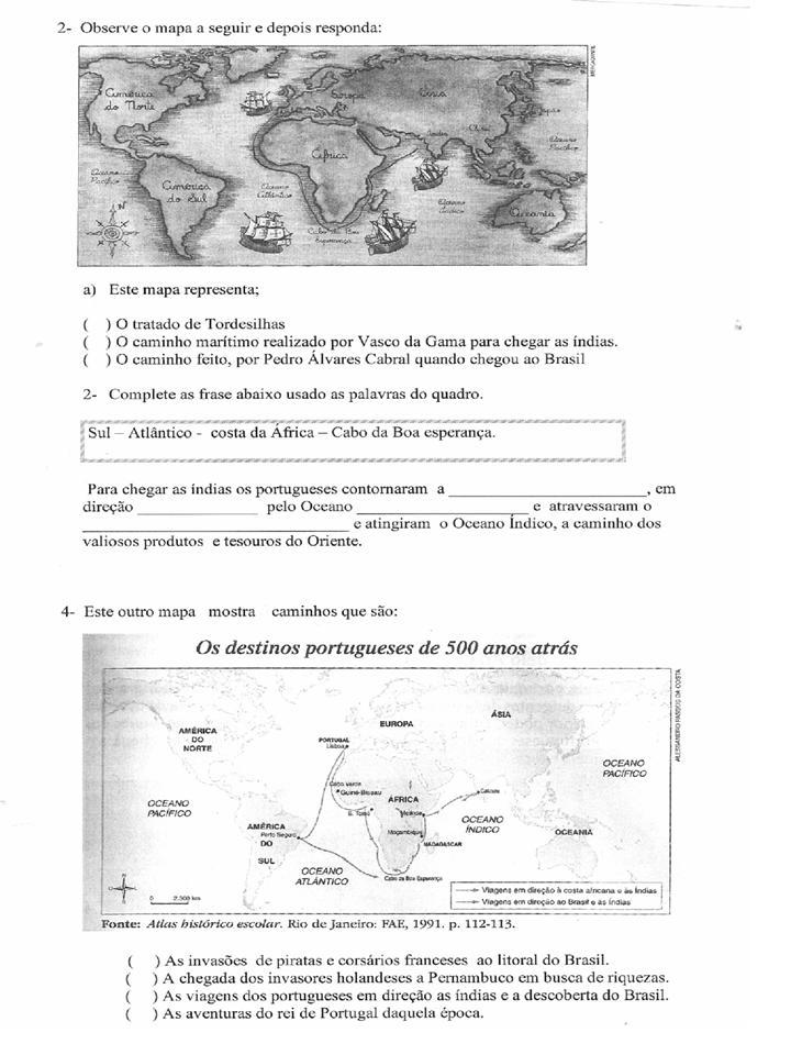 Para O 2   Bimestre 4   Ano Hist  Ria   Geografia E Ci  Ncias
