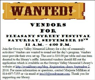 9-10 Vendors Wanted For Street Festival