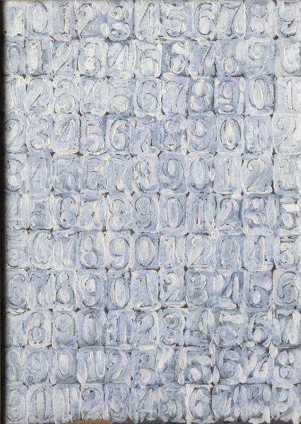 large white numbers jasper johns 1958 flag jasper johns 1954 1955    Jasper Johns Numbers White