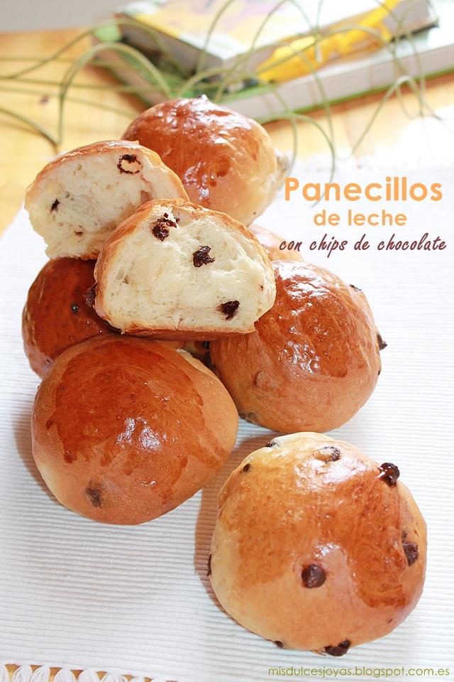 Panecillos De Leche Con Chips De Chocolate