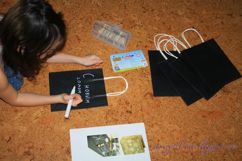 разрисовываем крафтпакеты