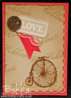 Card featuring the lovely Feeling Sentimental Stamp Set which is available FREE until 22 March - check out Independent Stampin' Up! Demonstrator Bekka Prideaux's blog to get yours