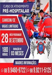 GRUPO DE RESGATE ANJOS DA VIDA ABRE INSCRIÇÕES PARA A 6ª TURMA DO CURSO DE ATEND. PRÉ-HOSPITALAR