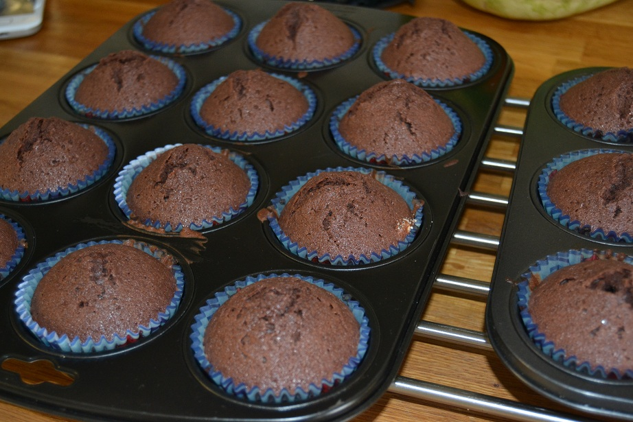 chokladmuffins med kokos