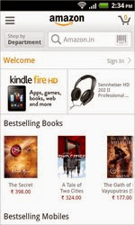 Screenshots of the Amazon for Android tablet, phone.