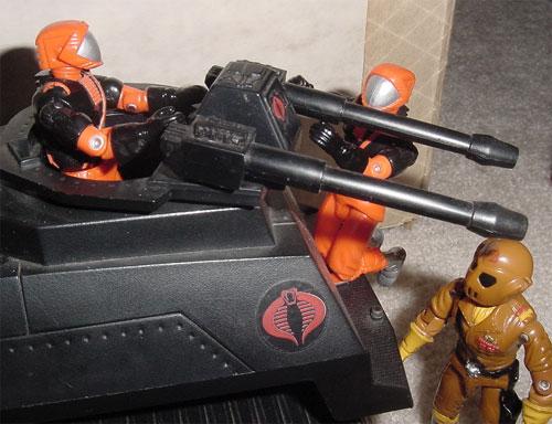 1993 Nitro Viper, Detonator, 1983 Hiss Tank, 1987 Worms