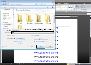 Cara Menyimpan File Document PDF di Microsoft Word 2007