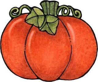 Desenho de abóbora colorido